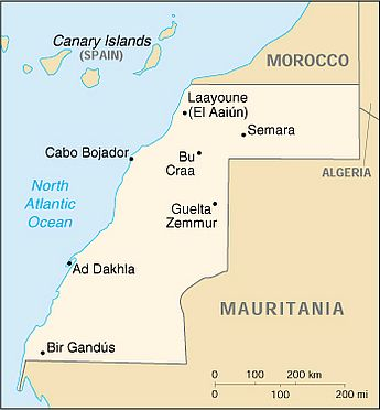 Mapa - Sahara Occidental